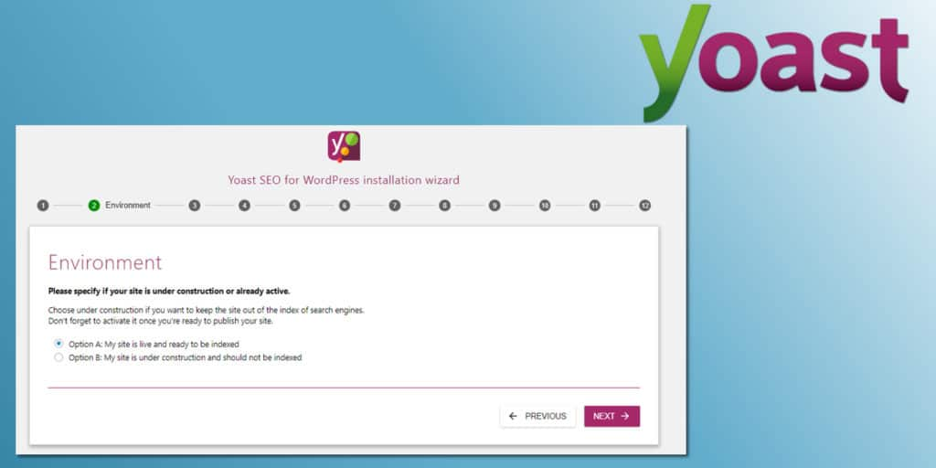 Yoast SEO Configuration Wizard Screenshot