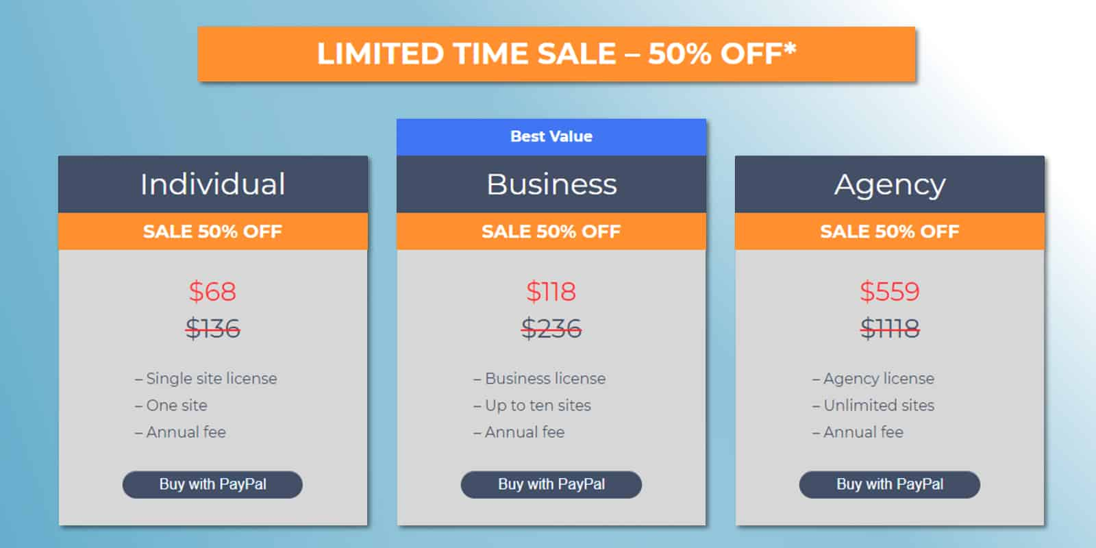 All in One SEO Pack Pro pricing options