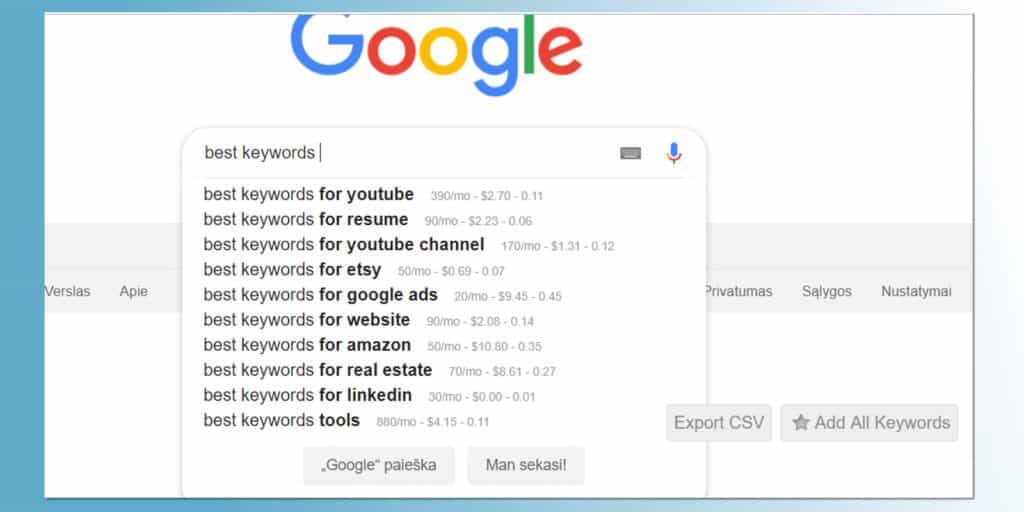 Keyword Everywhere keyword research extension for Chrome and Firefox